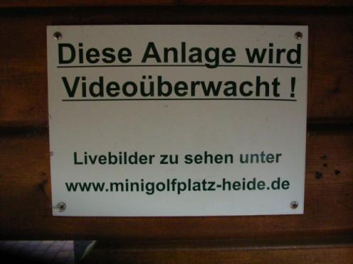 Minigolfüberwachung