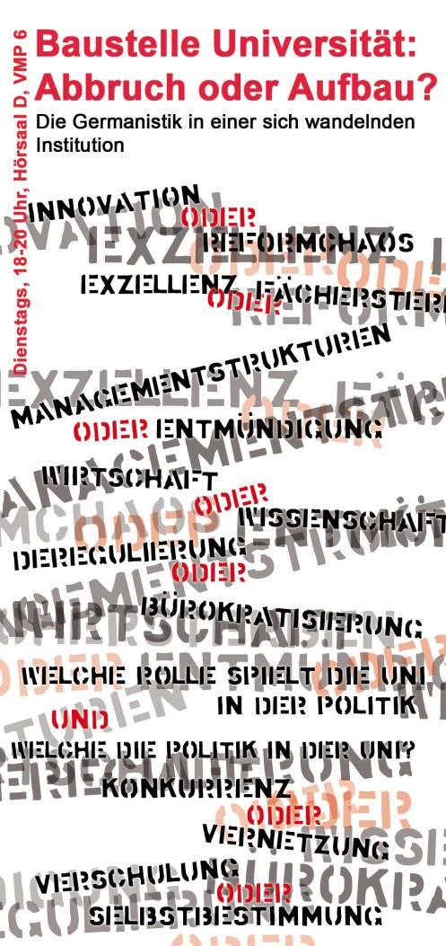 Ringvorlesung Germanistik Front
